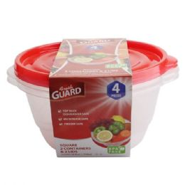 48 Units of 4 Pack Rectangle Food Container - Food Storage Containers