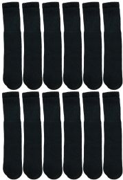 1200 Units of Yacht & Smith 28 Inch Men's Long Tube Socks, Black Cotton Tube Socks Size 10-13 - Mens Tube Sock