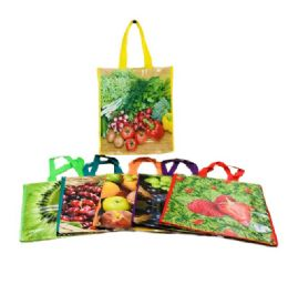 72 Units of Small Printed Vinyl Shopping Bag - Bags Of All Types