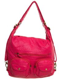 12 Units of Convertible Crossbody Backpack - Coral - Shoulder Bags & Messenger Bags