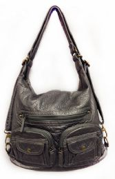 12 Units of Convertible Crossbody Backpack - Dark Silver - Shoulder Bags & Messenger Bags
