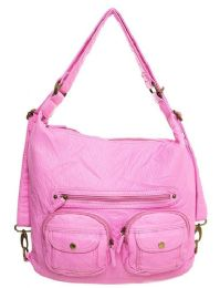 12 Units of Convertible Crossbody Backpack - Pink - Shoulder Bags & Messenger Bags