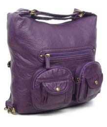 12 Units of Convertible Crossbody Backpack - Purple - Shoulder Bags & Messenger Bags