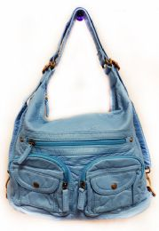 12 Units of Convertible Crossbody Backpack - Serenity Blue - Shoulder Bags & Messenger Bags