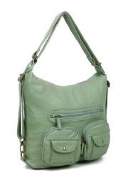 12 Units of Convertible Crossbody Backpack - Seafoam Green - Shoulder Bags & Messenger Bags