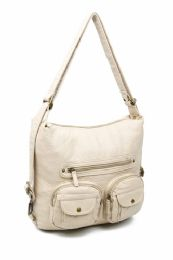 12 Units of Convertible Crossbody Backpack - Taupe - Shoulder Bags & Messenger Bags