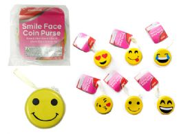 144 Units of Coin Purse, Smiley Face - Coin Holders & Banks