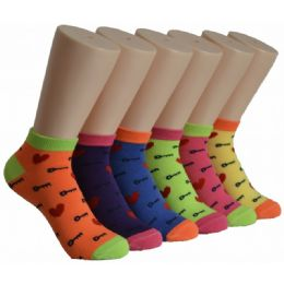 480 Units of Women's Hearts Low Cut Ankle Socks - Womens Ankle Sock