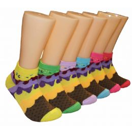 480 Units of Women's Sprinkles Low Cut Ankle Socks - Womens Ankle Sock