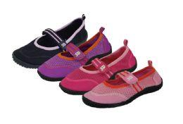 36 Units of Kids Athletic Water Shoes Pool Beach Aqua Socks - Girls Sandals