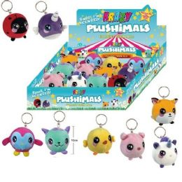 24 Units of Plushimals Key Chain Stuffed Animals - Key Chains