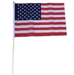 72 Units of Stick Flag American Flag - Signs & Flags