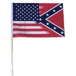 72 Units of Stick Flag Half And Half Confedrate US - Signs & Flags