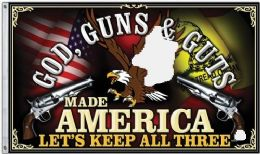 24 Units of God Guns And Guts Flag - Signs & Flags