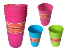 48 Units of 4pc Plastic Tumbler - Plastic Serving Ware