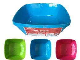 48 Units of 4pc Plastic Bowl - Plastic Bowls and Plates
