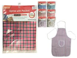 144 Units of Checkered Apron - Kitchen Aprons