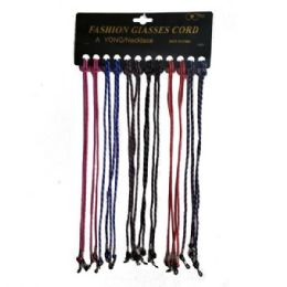 48 Units of EYEGLASS CORD LACES ASSTD COLORS - Eyeglass & Sunglass Cases
