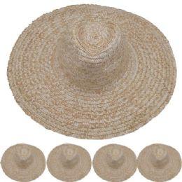 24 Units of Adults Large Brim Straw Hat - Sun Hats