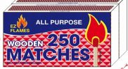 96 Units of 2 Pack 250 Count Wooden Matches - BBQ supplies