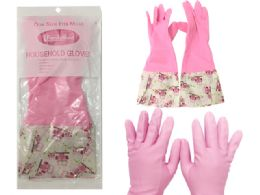 144 Units of Long Cuff Cleaning Gloves - Kitchen Gloves