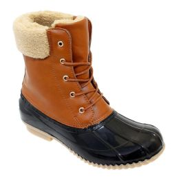 12 Units of Womens Duck Boot In Tan Brown - Women's Boots