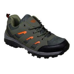 12 Units of Men's Low Top Hiker In Army Green - Men's Sneakers