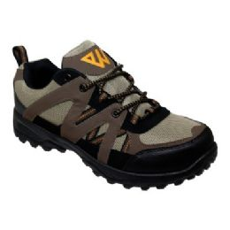 12 Units of Mens Lightweight Hiking Shoes In Brown - Men's Sneakers