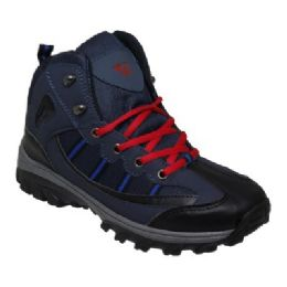 12 Units of Mens Lightweight Hiking Boots In Navy - Men's Sneakers