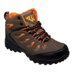 12 Units of Mens Lightweight Hiking Boots In Brown - Men's Sneakers