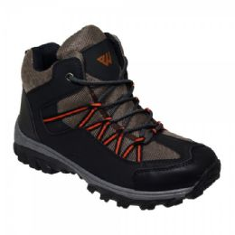 12 Units of Mens Lightweight Hiking Boots In Black Brown - Men's Sneakers