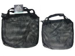 144 Units of Black Bag W/draw String - Tote Bags & Slings