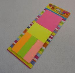 96 Units of Assorted Size Sticky Notes - Memo Holders and Magnets