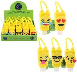 50 Units of 1oz Hand Sanitizer With Holder [emojis] - Hand Sanitizer