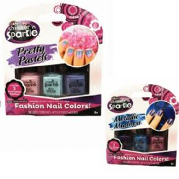 48 Units of 3pk Shimmer & Sparkle Nail Polish - Nail Polish