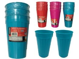 96 Units of 3pc Tumblers - Plastic Drinkware