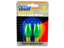 144 Units of 2 Pack 7 Watt Long Life Night Light Bulbs - Lightbulbs