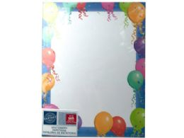 72 Units of Balloon Border Stationery 25 Sheets - Note Books & Writing Pads