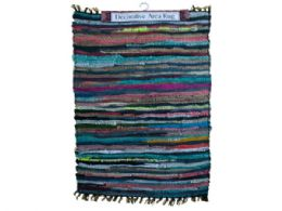 12 Units of Multicolor Leather Chindi Rug - Home Decor