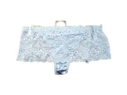 60 Units of Light Blue Stretch Lace Underwear Thong - Womens Size 5 - Store