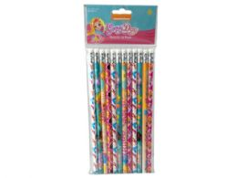 72 Units of Nickelodeons Sunny Day 12 Pack Pencils - Licensed School Supplies