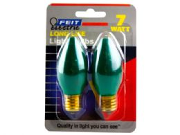 144 Units of 2 Pack Dark Green 7 Watt Long Life Night Light Bulbs - Lightbulbs