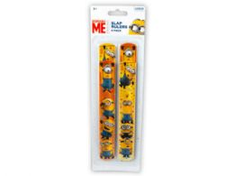 144 Units of Minions 4 Pack Slap Bracelets - Bracelets
