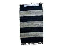 12 Units of Wide Stripe Leather Chindi Rug - Home Decor