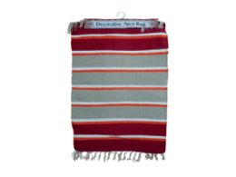 24 Units of Multi Striped Cotton Woven Rug - Home Decor