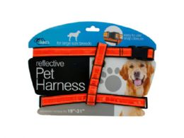 12 Units of Large Reflective Dog Harness - Pet Collars and Leashes