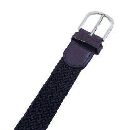 48 Units of Braided Stretch Belt Brown - Kid Belts