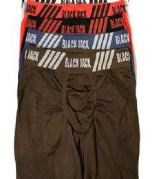120 Units of Men's Black Jack Seamless Long Leg Boxer Brief - Mens Underwear