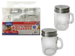 24 Units of 2 Pc Mason Jar Salt & Pepper Shakers - Kitchen Gadgets & Tools