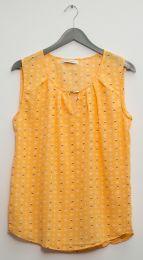 12 Units of Jewel Keyhole Sleeveless Blouse Mango - Womens Fashion Tops